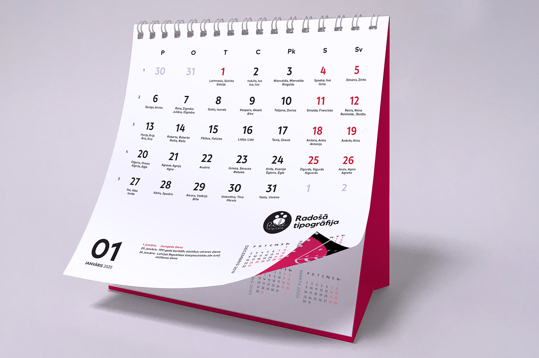 Изготовление календарей 2020 года