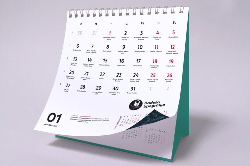 Производство календарей на 2021 год