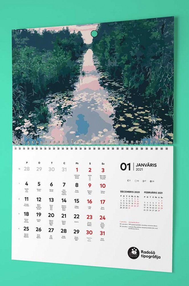 изготовление настенного календаря