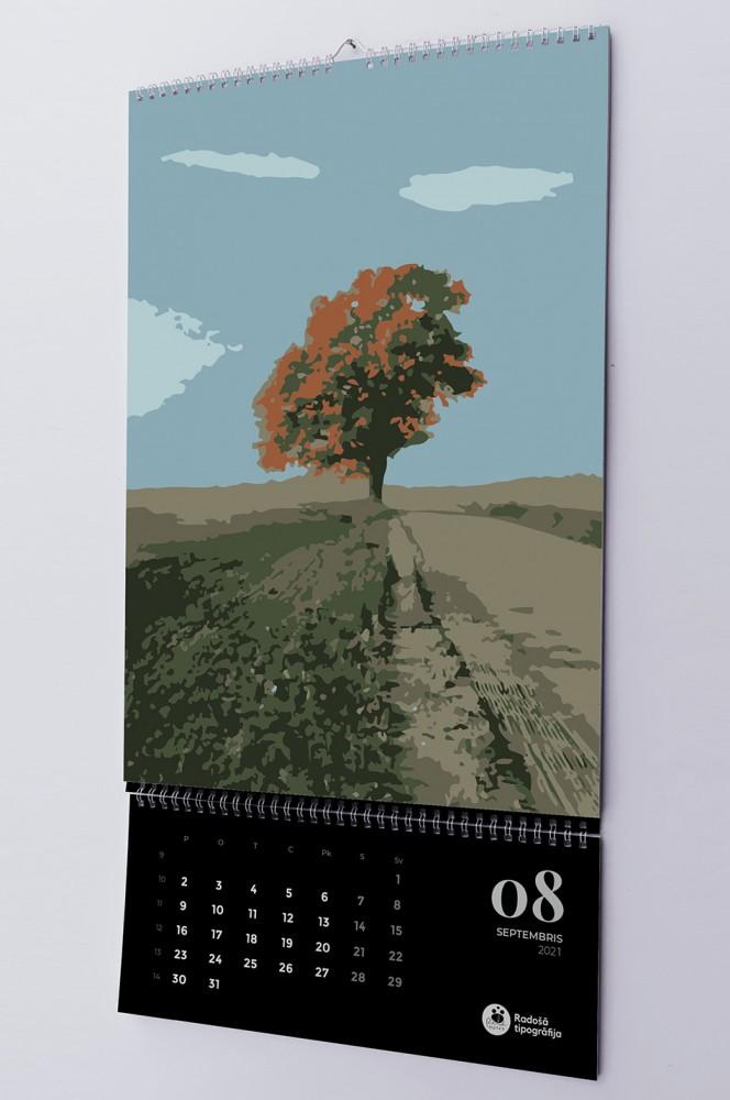 Эксклюзивная печать настенного календаря 2021.