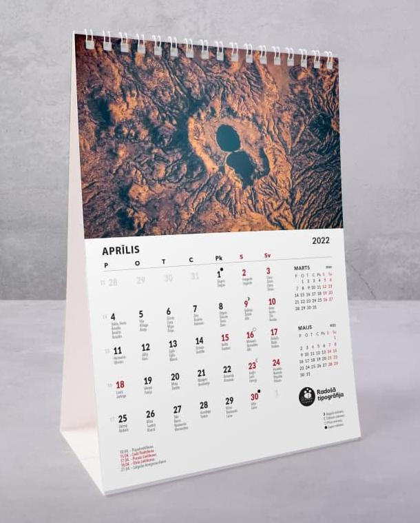 Galda kalendāri 2022