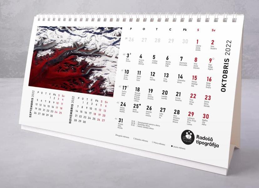 Galda kalendāru druka