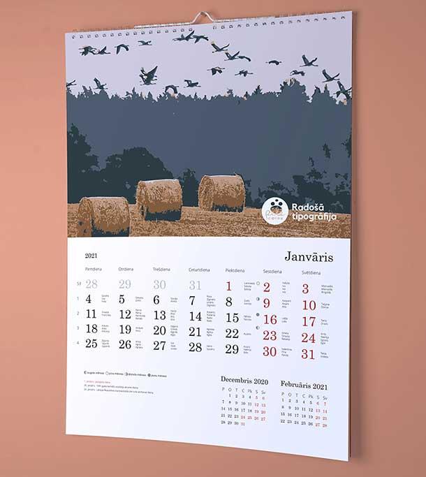 Календарь с фотографиями на 2021 год