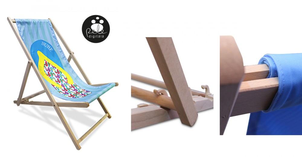 Koka saliekams krēsls ar apdruku
