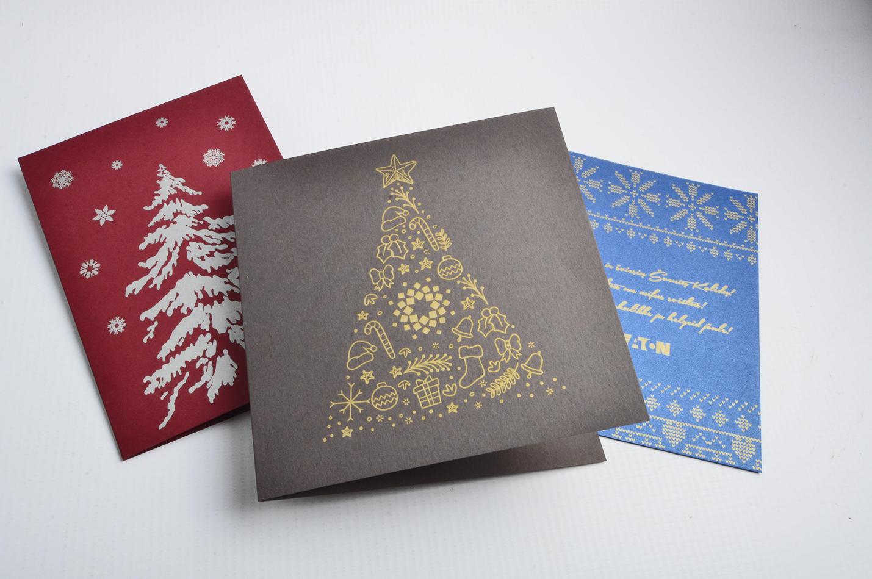 Kartiņas druka ar zeltu, sudrabu baltu krāsu