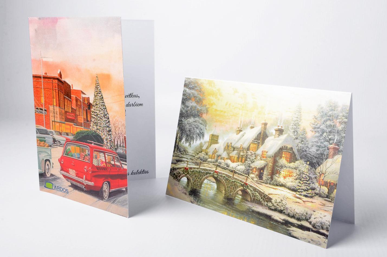 печать рождественской открытки