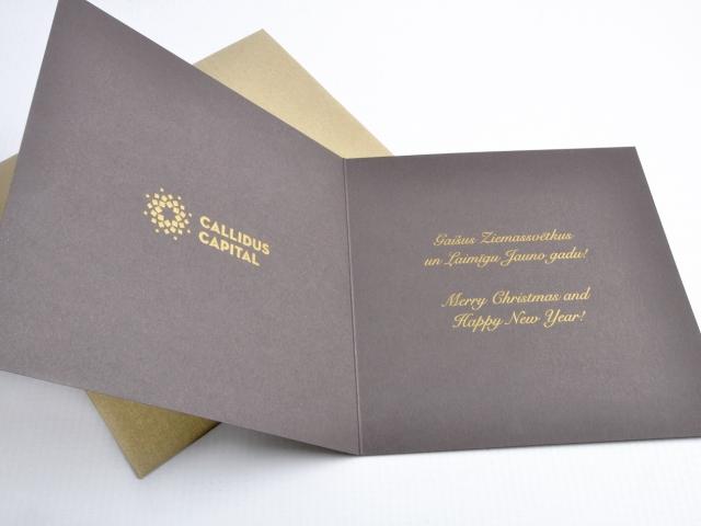 Callidus Ziemassvētku apsveikumu kartiņa
