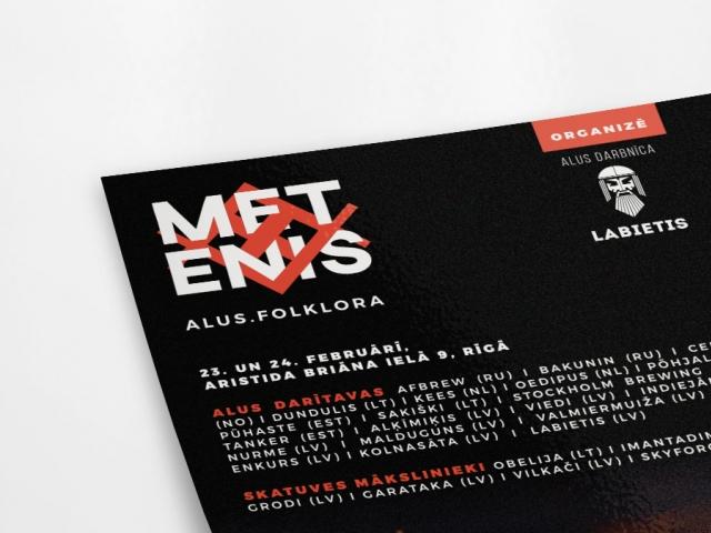 Craft alus festivāla METENIS grafiskā identitāte