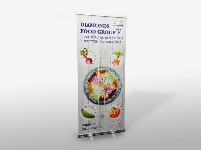 Diamonds food group roll-up banera dizains.