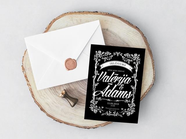 Kāzu ielūgumu dizains un druka