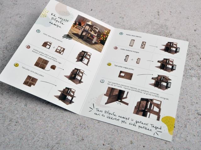 Дизайн буклета для дома PifPuf.