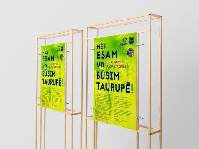 Разработка дизайна плаката праздника Таурупской волости