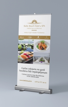 Baltic Beach Hotel rollup makets un druka