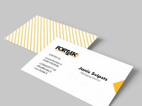 Būvuzņēmuma Forttek logo un vizītkartes izstrāde