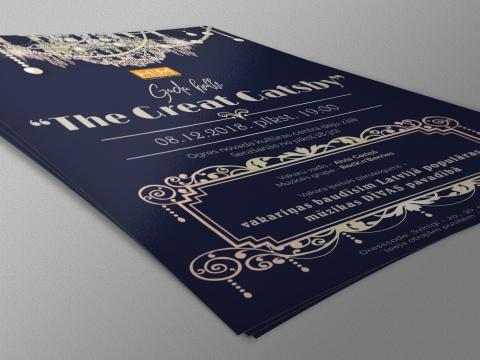 Hansa matrix gada balles plakāta grafiskais dizains un druka