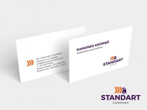 Kravu pārvadāšanas firmas logo izstrāde un vizītkartes dizains