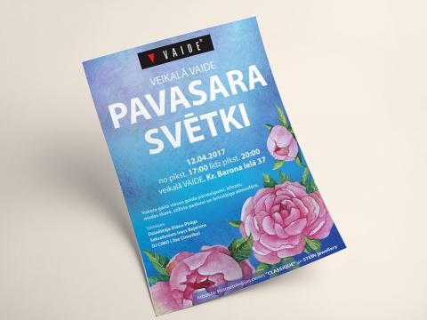 Latvijā apģērbu ražotājs Vaide plakāta izstrāde