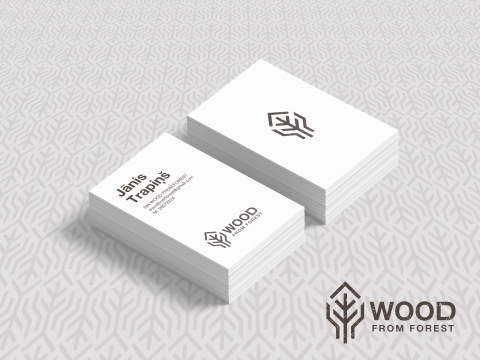 Mežsaimniecības Wood from Forest logo izstrāde un vizītkrates dizains