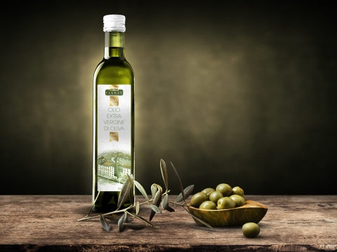 Разработка графического дизайна для специального выпуска этикетки для оливкового масла