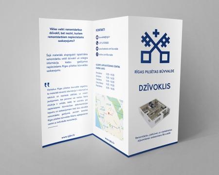Rīgas pilsētas būvvaldes bukletu grafiskais dizains
