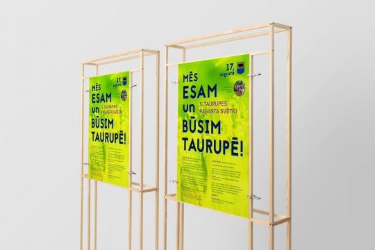 Taurupes pagasta svētki plakāta dizaina izstrāde