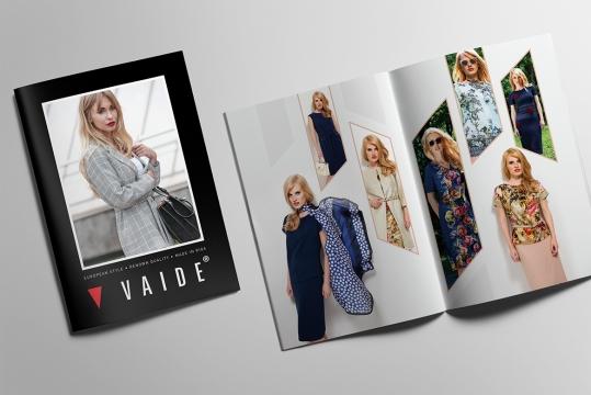Vaide veikalu apģērba ražotāja iksezonas kataloga dizaina izstrāde