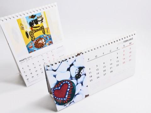 Galda kalendāru izgatavošana 2019