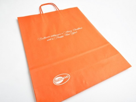 kraft papīra maisiņu apdruka