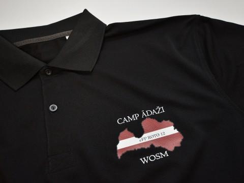 Шелкография на рубашке поло