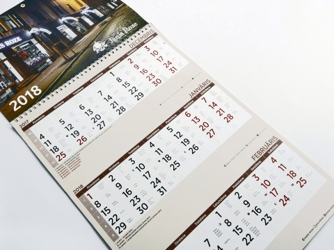 Trīs mēnešu kalendārs, druka