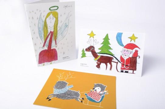 Рождественские открытки печать