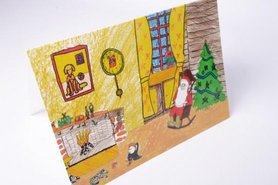 Рисованные детские открытки