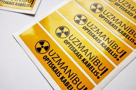 Изготовление предупреждающей наклейки