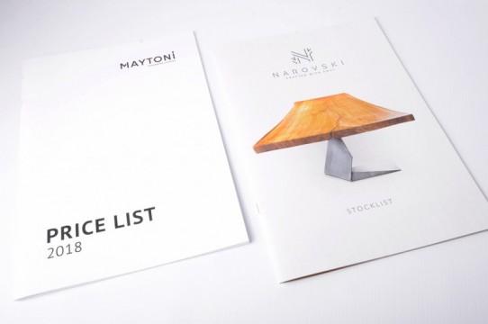 каталоги цен, печать брошюр