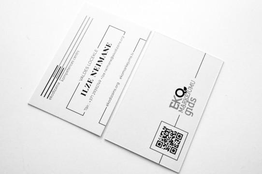 Eko papīra vizītkaršu izgatavošana