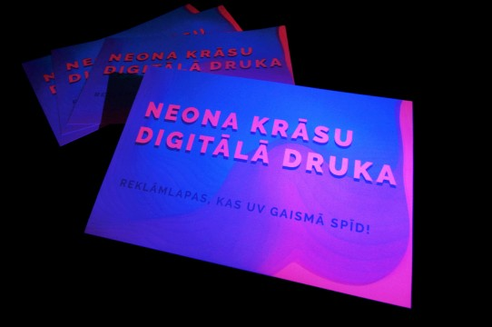 Неоновая цветная цифровая печать
