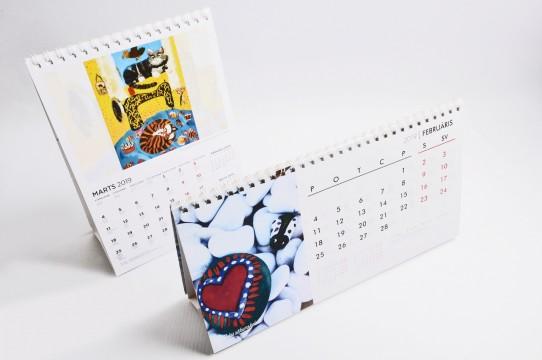 Изготовление настольных календарей 2019