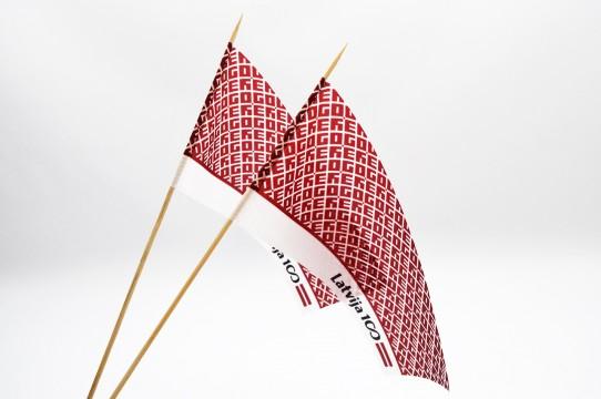 Маленькие настольные флаги, отпечатки