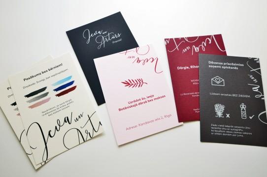 kartiņu druka, kāzu ielūgumi