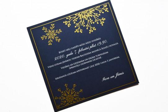 Kāzu ielūgumu druka ar zeltu un baltu krāsu