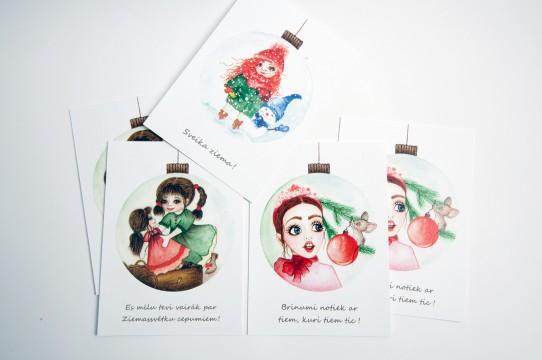 Печать открыток, полиграфические услуги