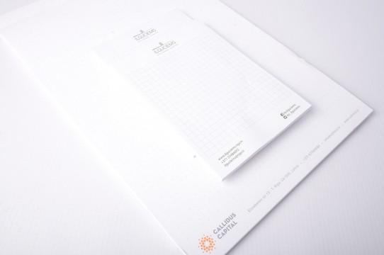 Korporatīvais stils, pierakstu bloki, druka