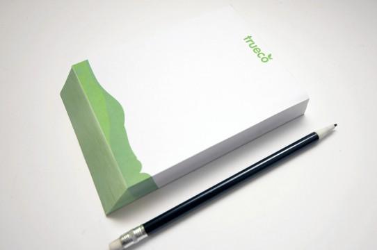 Piezīmju blociņš, druka