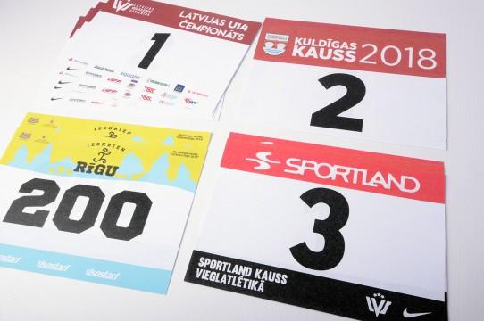 sporta numuri izturīgi, druka