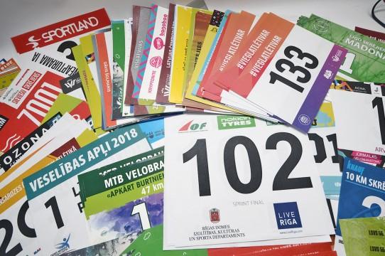 skriešanas, maratonu numuru druka uz tyvex