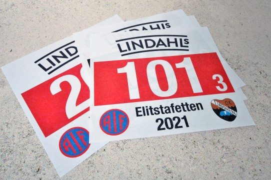 Печать спортивных номеров