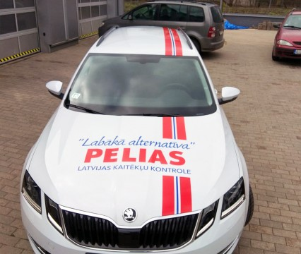 Car wrapping with advertising