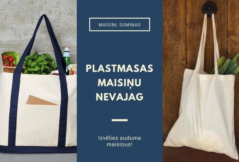 Auduma maisiņi, somiņas ar apdruku